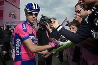 Giro d'Italia stage 13.Savano-Cervere: 121km..Damiano Cunego before the race