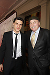 All My Children Finn Wittrock wins award and poses with actor Stacy Keach who is a presenter at The 68th Annual Theatre World Awards 2012 presented to 12 actors for their Outstanding Broadway or Off-Broadway Debut Performances during the 2011-2012 theatrical season on June 5, 2012 at the Belasco Theatre, New York City, New York.