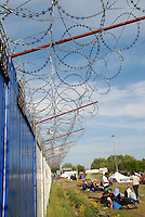 Subotica / Serbia  160416<br /> The wall and the barbed wire dividing Serbia from Hungary block the journey of refugees to Europe.<br /> Photo Livio Senigalliesi