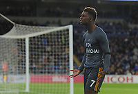 Leicester City's Demarai Gray celebrates scoring his side's first goal <br /> <br /> Photographer Kevin Barnes/CameraSport<br /> <br /> The Premier League -  Cardiff City v Leicester City - Saturday 3rd November 2018 - Cardiff City Stadium - Cardiff<br /> <br /> World Copyright © 2018 CameraSport. All rights reserved. 43 Linden Ave. Countesthorpe. Leicester. England. LE8 5PG - Tel: +44 (0) 116 277 4147 - admin@camerasport.com - www.camerasport.com