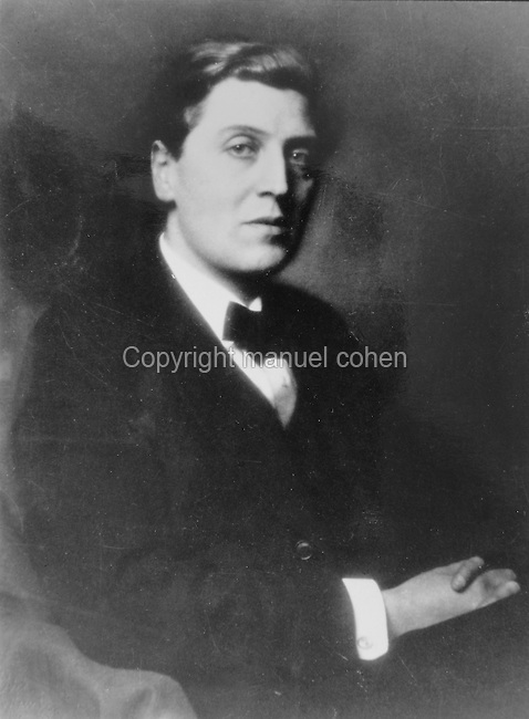 Portrait of Alban Berg, 1885-1935, Austrian composer, in a photograph taken in the 1930s. Copyright © Collection Particuliere Tropmi / Manuel Cohen