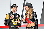 JAMES  HINCHCLIFFE appears at the driver introductions before the Verizon Indy Car Firestone 600 race at Texas Motor Speedway in Fort Worth,Texas.