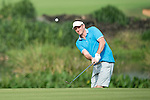 Lee Sharpe plays during the World Celebrity Pro-Am 2016 Mission Hills China Golf Tournament on 23 October 2016, in Haikou, Hainan province, China. Photo by Weixiang Lim / Power Sport Images