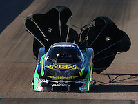 Feb 26, 2016; Chandler, AZ, USA; NHRA funny car driver Chad Head during qualifying for the Carquest Nationals at Wild Horse Pass Motorsports Park. Mandatory Credit: Mark J. Rebilas-