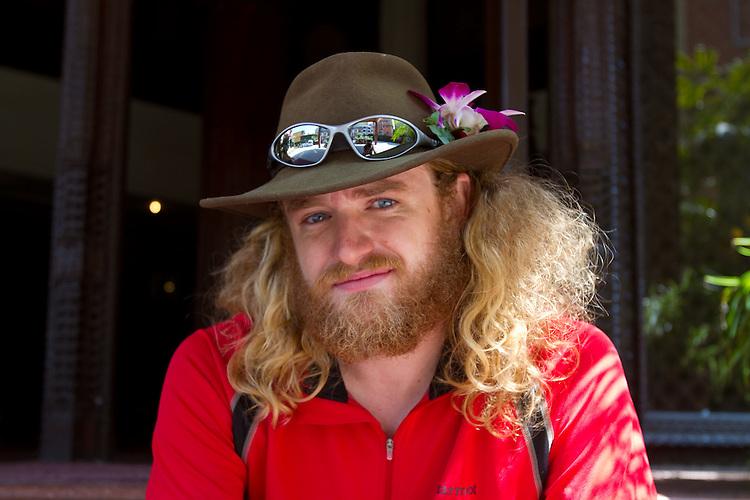 Chad Jukes in Kathmandu, Nepal.