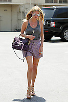 Nicky Hilton dropped off her car at the carwash today and went shopping in Beverly Hills. Nicki wore a color matching gray and purple outfit with gray tank top, flowing mini skirt, nude wedges, a to die for purple Proenza Schouler PS1 tote, her favorite wishbone and a horn pendant. Beverly Hills, California on 31.05.2012..Credit: Correa/face to face.. / Mediapunchinc ***ONLINE ONLY***