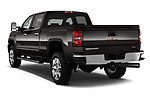Car pictures of rear three quarter view of a 2018 GMC Sierra 2500HD 2WD Crew Cab Standard Box SLT 4 Door Pick Up angular rear