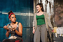 London, UK. 01.11.2012. KHADIJA TURNS 18, by Shamser Sinha, opens at the Finborough Theatre. Picture shows:  Aysha Kala (Khadija) and Katherine Rose Morley (Liza). Photo credit: Jane Hobson.