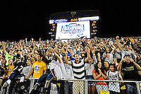 27 November 2010:  FIU fans celebrate after the FIU Golden Panthers defeated the Arkansas State Red Wolves, 31-24, at FIU Stadium in Miami, Florida.  With the victory, FIU won the Sun Belt Conference championship and became bowl eligible for the first time in the school's history.