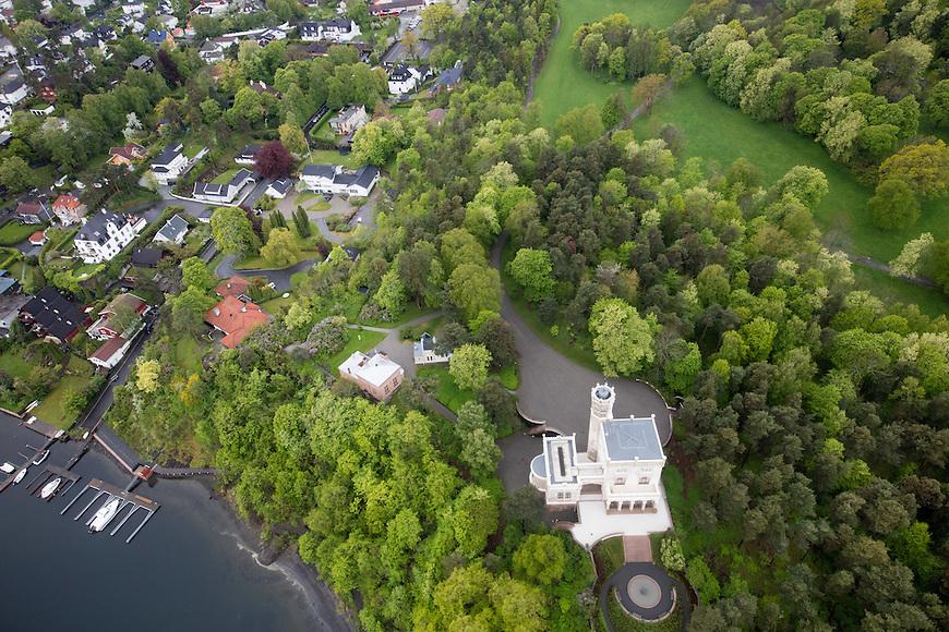 Oslo fra lufta, 20150519. Oscarshall. Foto: Eirik Helland Urke