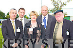 20th: Marking the 20th Anniversary of Aetna Inc, Castleisland on Thursday were:  Ogie Moran (Shannon Development), Enda McWeeney (Fas), Barbara O'Connor (Sliabh Luachra), Arthur Lenihan and Jackie Healy Rae (TD).   Copyright Kerry's Eye 2008