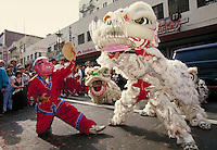 CHINESE- AMERICAN NEW YEAR PARADE AND FESTIVAL. CHINESE NEW YEAR. SAN FRANCISCO CALIFORNIA USA.