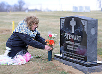 Rosemary Stewart Visits the Grave of her Son in Newtown, Pennsylvania