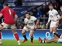 Twickenham, Surrey. UK. Danny CARE, looking to make a pass, during the Six Nations Rugby Match, England vs Wales RFU Stadium, Twickenham. Surrey, England. on Saturday 10.02.18<br />