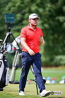 Tyrell Hatton (ENG) departs the 9th tee during Friday's round 2 of the PGA Championship at the Quail Hollow Club in Charlotte, North Carolina. 8/11/2017.<br /> Picture: Golffile | Ken Murray<br /> <br /> <br /> All photo usage must carry mandatory copyright credit (&copy; Golffile | Ken Murray)