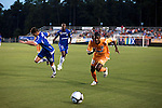 September 12, 2009. Cary, NC..The Carolina Railhawks took over the #2 spot in the league after a 2-1 victory over the Puerto Rico Islanders.. #20 Gregory Richardson had a goal in the 1st minutes of the game.