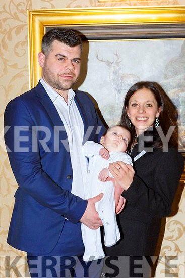 Harry Bartlett Killarney and London celebrates his christening with his parents John and Natalie in the Killarney Plaza Hotel on Saturday