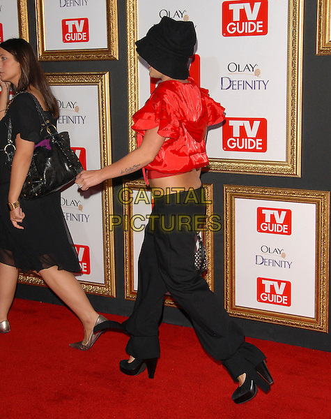 PINK.attends The TV Guide Post Emmy Party 2007 held at Les Deux in Hollywood, California, USA, September 16 2007.                                                                                        full length piink pinnk red hooded top black hat trousers back behind.CAP/DVS.©Debbie VanStory/Capital Pictures