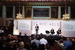 © Joel Goodman - 07973 332324 - all rights reserved . No onward sale/supply/syndication permitted . 28/07/2016 . Manchester , UK . GARY NEVILLE speaks at the launch of the St Michael's city centre development , at the Lord Mayor's Parlour in Manchester Town Hall . Backed by The Jackson's Row Development Partnership (comprising Gary Neville , Ryan Giggs and Brendan Flood ) along with Manchester City Council , Rowsley Ltd and Beijing Construction and Engineering Group International , the Jackson's Row area of the city centre will be redeveloped with a design proposed by Make Architects . Photo credit : Joel Goodman