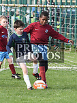 Drogheda Boys Romeo Formenky Donacarney Celtic Tyler Quinn. Photo:Colin Bell/pressphotos.ie