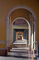 Spanish colonial arcades in Granada, Nicaragua