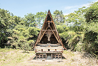 Traditional Batak House, Lake Toba (Danau Toba), North Sumatra, Indonesia