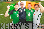 Peter McCarthy, Stephen Sheehan, Tommy O'Shea and Billy O'Leary, Killarney, who will be attending a wedding during their support of the Irish team in Poland for Euro 2012.....................