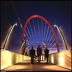 La nuova città di Torino, completata per le olimpiadi del 2006. L'Arco olimpico.