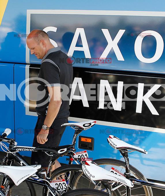 Team Saxo Bank-Tinkoff Banl General Manager Bjarne Riis before the stage of La Vuelta 2012 between Huesca and Motorland Aragon (Alcaniz).August 24,2012. (ALTERPHOTOS/Acero) /NortePhoto.com<br /> <br /> **CREDITO*OBLIGATORIO** *No*Venta*A*Terceros*<br /> *No*Sale*So*third* ***No*Se*Permite*Hacer Archivo***No*Sale*So*third*