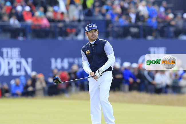 Louis Oosthuizen (RSA) prepares to tee off the 18th tee during Sunday's Round 3 of the 144th Open Championship, St Andrews Old Course, St Andrews, Fife, Scotland. 19/07/2015.<br /> Picture Eoin Clarke, www.golffile.ie