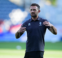 Lincoln City's Neal Eardley during the pre-match warm-up<br /> <br /> Photographer Andrew Vaughan/CameraSport<br /> <br /> The Carabao Cup First Round - Huddersfield Town v Lincoln City - Tuesday 13th August 2019 - John Smith's Stadium - Huddersfield<br />  <br /> World Copyright © 2019 CameraSport. All rights reserved. 43 Linden Ave. Countesthorpe. Leicester. England. LE8 5PG - Tel: +44 (0) 116 277 4147 - admin@camerasport.com - www.camerasport.com
