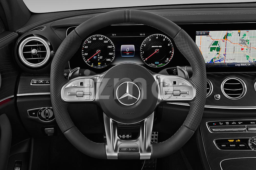 Car pictures of steering wheel view of a 2019 Mercedes Benz E-Class AMG-E53 4 Door Sedan Steering Wheel