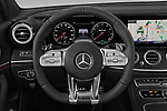 Car pictures of steering wheel view of a 2019 Mercedes Benz E-Class AMG-E53 4 Door Sedan Steering Wheel