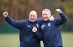 Kenny McDowall and Ally McCoist in good form together at training this morning