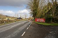 """2020 03 12 """"Cofiwch Dryweryn"""" (Remember Tryeryn) graffiti, Talley Road of Llandeilo, Wales, UK"""