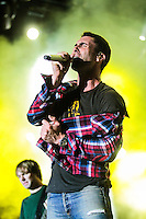 LISBOA, PORTUGAL, 01 JUNHO 2012 - ROCK IN RIO LISBOA - Apresentacao da banda Marron 5 no Palco Mundo durante o Rock in Rio Lisboa, em Portugal, nesta sexta-feira. (FOTO: VANESSA CARVALHO / BRAZIL PHOTO PRESS).