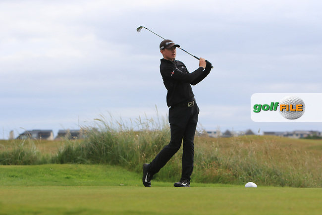 Jamie Knipe during Round 2 of the North of Ireland Amateur Open Championship 2019 at Portstewart Golf Club, Portstewart, Co. Antrim on Tuesday 9th July 2019.<br /> Picture:  Thos Caffrey / Golffile<br /> <br /> All photos usage must carry mandatory copyright credit (© Golffile | Thos Caffrey)