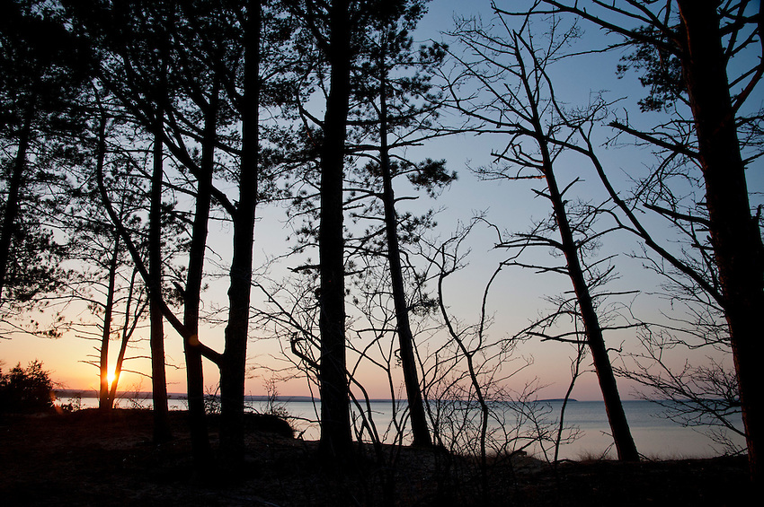 Sunset over Lake Superior in Michigan's Upper Peninsula.