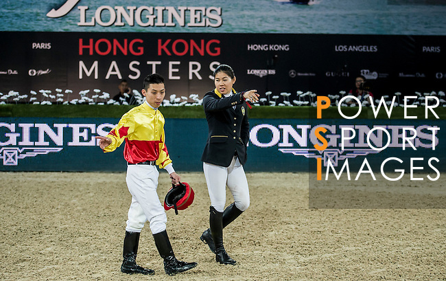 Riders in action during the Longines Speed Challenge competition as part of the Longines Hong Kong Masters on 13 February 2015, at the Asia World Expo, outskirts Hong Kong, China. Photo by Li Man Yuen / Power Sport Images