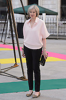 Home Secretary Theresa May at the Royal Academy of Arts Summer Exhibition 2015 at the Royal Academy, London. <br /> June 3, 2015  London, UK<br /> Picture: Dave Norton / Featureflash