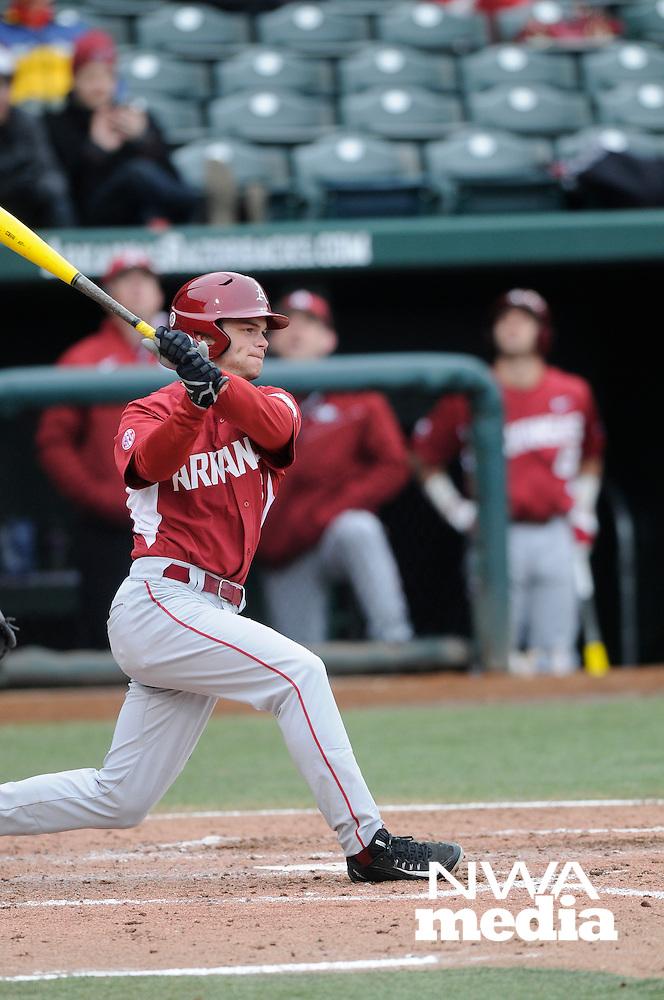 NWA Democrat-Gazette/ J.T. WAMPLER -- The University of Arkansas baseball team took on Eastern Illinois University Monday March 2, 2015.