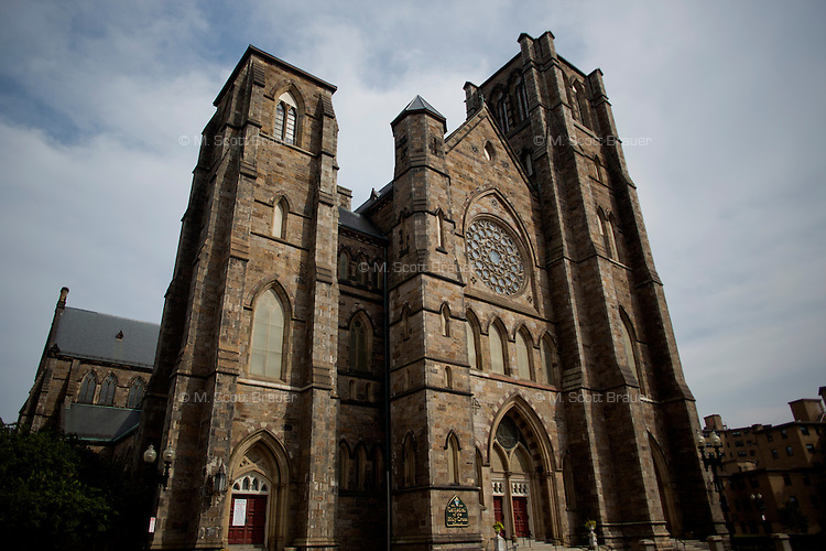 The Cathedral of the Holy Cross is a landmark on Washington Street in the South End of Boston, Massachusetts, USA.