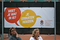 August 9, 2014, Netherlands, Rotterdam, TV Victoria, Tennis, National Junior Championships, NJK,  Tolerance capaign<br /> Photo: Tennisimages/Henk Koster