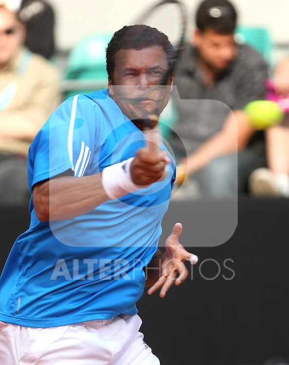 France's Jo-Wilfred Tsonga during his Madrid Open first round match. May 12, 2009. (ALTERPHOTOS/Alvaro Hernandez)