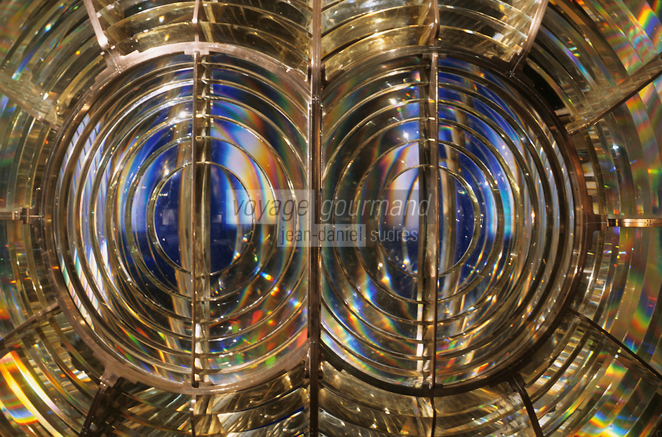 Europe/France/Bretagne/29/Finistère/Ile d'Ouessant: Musée des Phares et Balises du Phare de Creac'h détail optique lanterne de phare