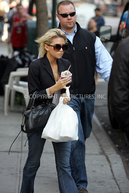 Ashley Olsen did what any NYU student might have done after class. She popped into Soho restaurant 'Bread' for a snack and rounded it off with an ice cream from Tasti-delight before heading home. September 16 2004. Please byline: BRIAN FLANNERY/ACEPIXS.COM..*PAY-PER-USE*....IMPORTANT: Please note that our old trade name New York Photo Press has changed to ACE Pictures. New York Photo Press and ACE Pictures are both owned by All Celebrity Entertainment, Inc.......All Celebrity Entertainment, Inc..Contact: Alecsey Boldeskul, (646) 267 6913..Philip vaughan, (646) 769 0430..e-mail: info@acepixs.com..Philip.Vaughan@acepixs.com