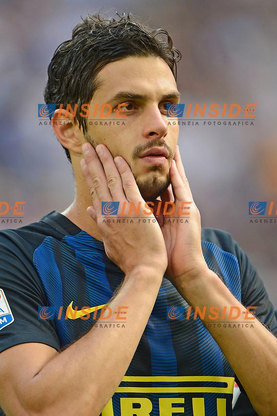 Delusione Andrea Ranocchia Inter<br /> Milano 25-09-2016 Stadio Giuseppe Meazza - Football Calcio Serie A Inter - Bologna. Foto Giuseppe Celeste / Insidefoto