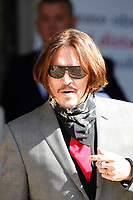 JUL 21 Johnny Depp attends libel trial at The Royal Courts of Justice