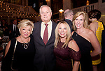 WATERBURY, CT-053118JS10-- Lori Tyli of Middlebury; Dr. Jack Zazzaro and his wife Monique Zazzaro and Janet Walker of Southbury, at STAGES, the Palace Theater's 12th Annual Wine Dinner held at the Palace Theater in Waterbury. The event  benefits the Palace Theater Annual Campaign.  <br /> Jim Shannon Republican American
