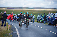 Bernie Eisel (AUT) escorting <br /> <br /> 2013 Tour of Britain<br /> stage 5: Machynlleth to Caerphilly (177km)